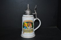 Tankard with a lid German beer Our Father I. 0.5 liters.