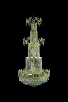 Modern crystal chandelier 8PBB122300026 78x170 cm, 26 lights, gilded