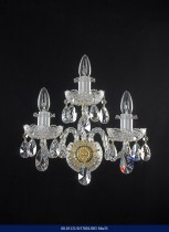 Crystal Wall Lamp 3-spoke 05121/57001/003