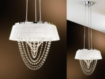 Kitchen chandelier OHL615433, white.
