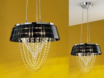 Kitchen chandelier OHL615433, black.