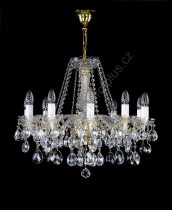 Chandelier 10 arms 10L127CL10 65x51cm plated chain