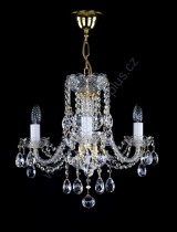 Chandelier Crystal 3-spoke 11L124CL3 47x41cm plated chain