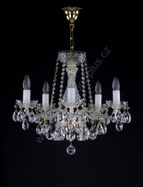 Chandelier Crystal 5 arms 7L128CL5 53x46cm plated chain