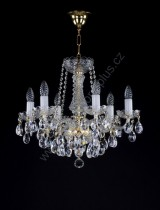 Chandelier 6 arms 8A022CL6 53x46cm plated chain