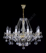 Crystal Chandelier 8 arms 9L130CL8 65x51cm plated chain