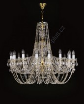 Exclusive Crystal Chandelier 16 arms 11L038CE16 100x84cm plated chain