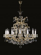 Crystal Chandelier Maria Theresa 10L412CL13 80x90cm, 13-spoke, gold-plated chain