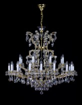 Crystal Chandelier Maria Theresa 11L400CL25 120x100cm, 25-spoke, gold-plated chain