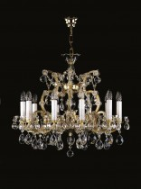 Crystal Chandelier Maria Theresa 12L413CL11 65x64cm, 11-spoke, gold-plated chain
