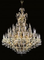Crystal Chandelier Maria Theresa 18L40348 160x180cm, 3 storey 48-spoke, gold-plated chain