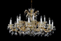 Crystal Chandelier Maria Theresa 19L404CL18 112x66cm, 18-spoke, gold-plated chain