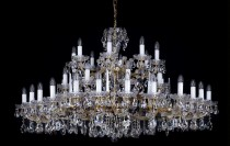 Crystal Chandelier Maria Theresa 20L397CL40 152x88cm, 3 storey, 40-spoke, gold-plated chain