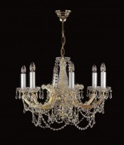 Crystal Chandelier Maria Theresa 23L09170CL6 55x46cm, 6-spoke, gold-plated chain