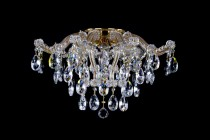 Crystal Chandelier Maria Theresa 24L430CL8 58x38cn, 8-spoke, gold-plated