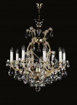Crystal Chandelier Maria Theresa 8L416CL9 73x79cm, 9-spoke, gold-plated chain