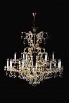 Crystal Chandelier Maria Theresa 9L399CL19 100x110cm, 2 storey, 19-spoke, gold-plated chain