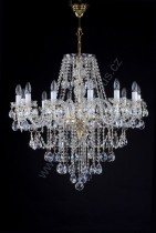 Swarovski Crystal Chandelier 14-spoke 9LA014SW14 95x95cm plated chain