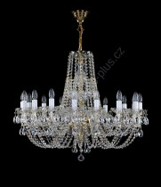 Swarovski Crystal Chandelier 16 arms 12L054SW16 85x70cm plated chain