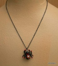 Necklace Spider lucky red