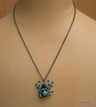Necklace Spider lucky blue
