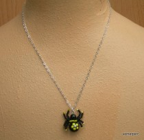 Necklace Spider lucky yellow