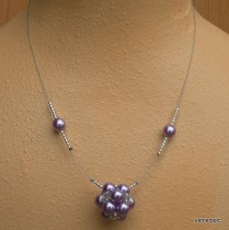 Necklace of purple beads