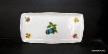 Tray for sandwiches fruit decor, ivory 33 cm.