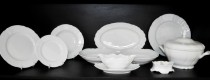 Porcelain tableware Bernadotte white 26 pcs.