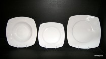 Porcelain Plate Set Tetra 18 pcs. white.