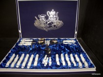 Cutlery 24 pieces of porcelain goose. Cutlery wrapped in a decorative box.