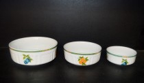 80H Breakfast Bowl Set, Porcelain Fruit 3 Pcs.