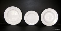 A set of plates Bernadotte white 18 piece.