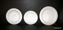 Set of 18 plates Catrin piece white.