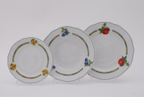 Set of plates Mary Anne 80H white 18pcs.