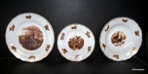 A set of plates 788 Ophelia hunting motifs 18pcs.
