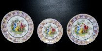A set of plates Ophelia luster Three Graces 18-piece