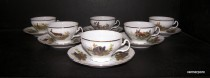 Bernadotte Cup and Saucer Tea 0.2 l hunter 6 pieces.