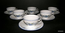 Cup and saucer Bernadotte FLOWER 0,2 l 6 pieces.