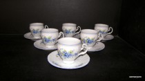 Bernadotte Cup and Saucer 0.15 liter Coffee FLOWER 6 pieces.