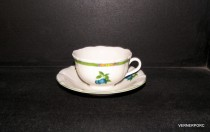 Cup and saucer C1 + ZC1, decor fruit, 6 pieces of ivory.
