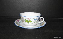 Blue Onion Cup and Saucer 0.2 l./15 nature, 5cm.