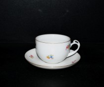 Cup with saucer Clea tea, decor flowers 6 pcs