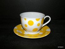 Jumbo cup and saucer 0.4 l ZK474 yellow dot