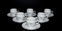 Cup with saucer mocha Bernadotte forget-me-not 6 pcs