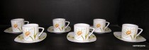 Cup and saucer Tetra 103v 0,2 l 6 pieces.