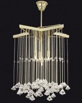 Ceiling modern chandelier TX326000004, gold
