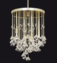 Ceiling modern chandelier TX327000004, gold.