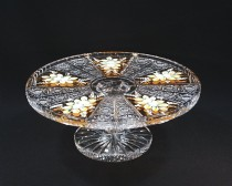 Cake plate on the leg-cut crystal 05007/57113/300