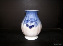 Blue Cherry Rose Vase 19cm.